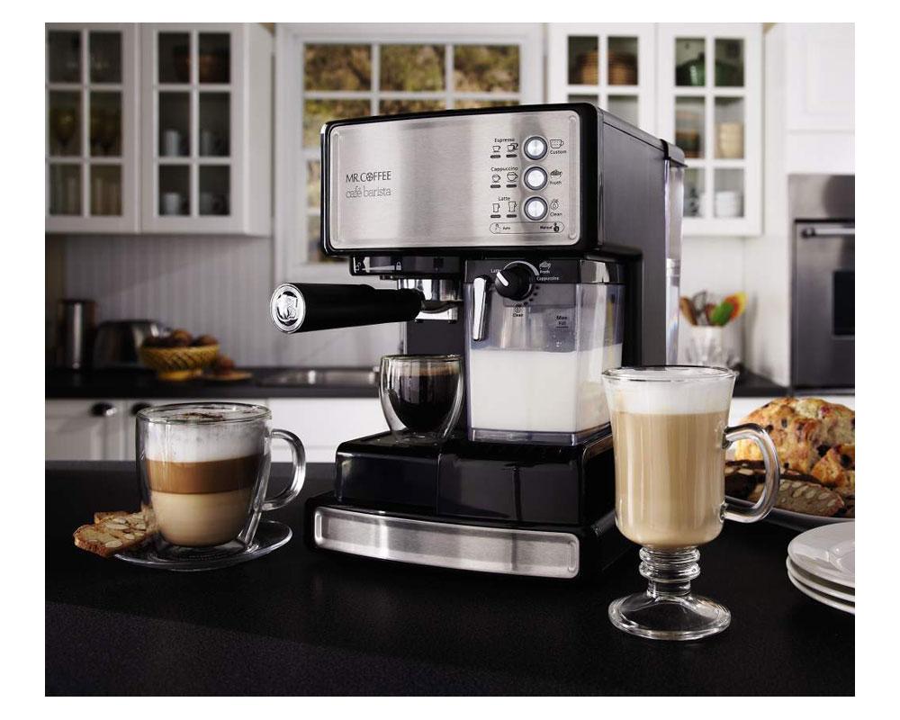 mr coffee cafe barista espresso maker with. Black Bedroom Furniture Sets. Home Design Ideas