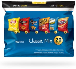 Frito-Lay Chips Classic mix Multipack, 20 - By amazon