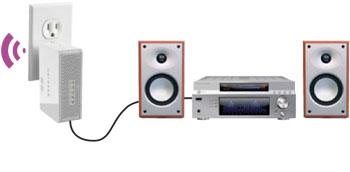 plug + stereo