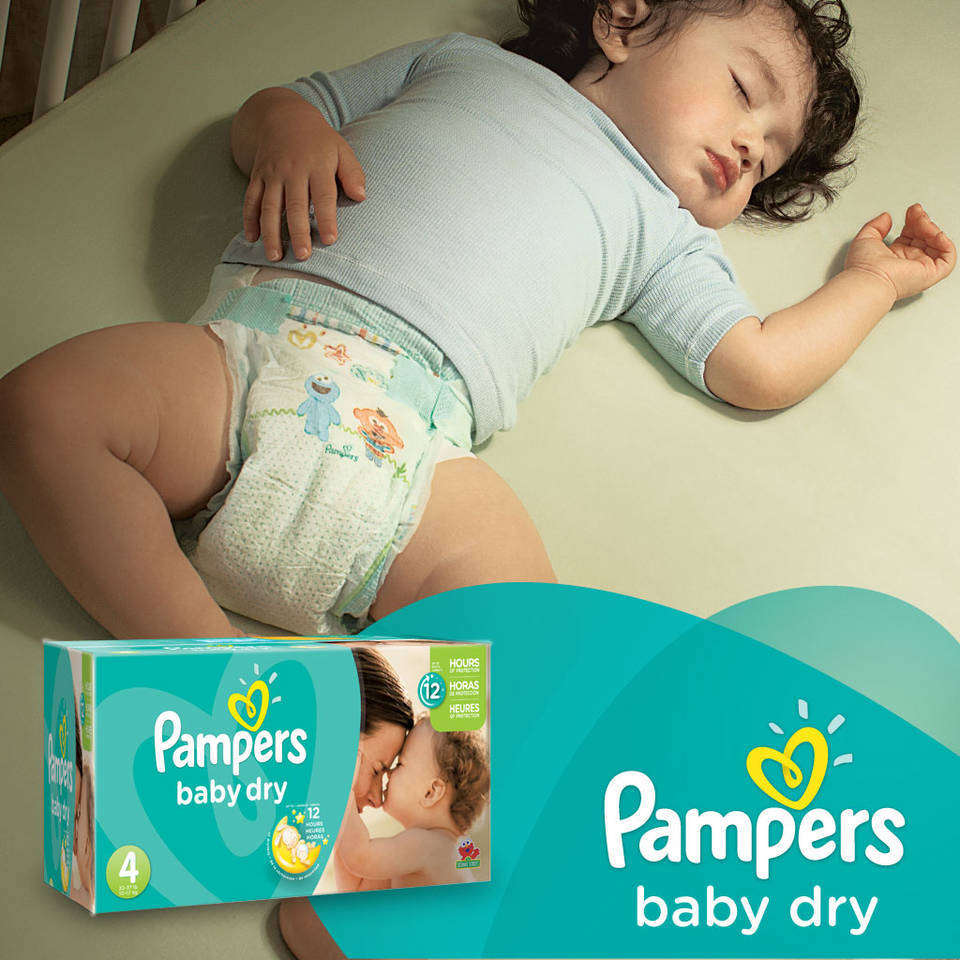 Pampers Baby Dry Diapers Size N Super Pack 104 Count