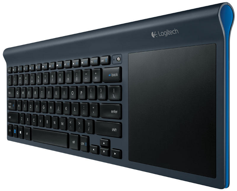 logitech wireless all in one keyboard tk820 with built in touchpad computers. Black Bedroom Furniture Sets. Home Design Ideas