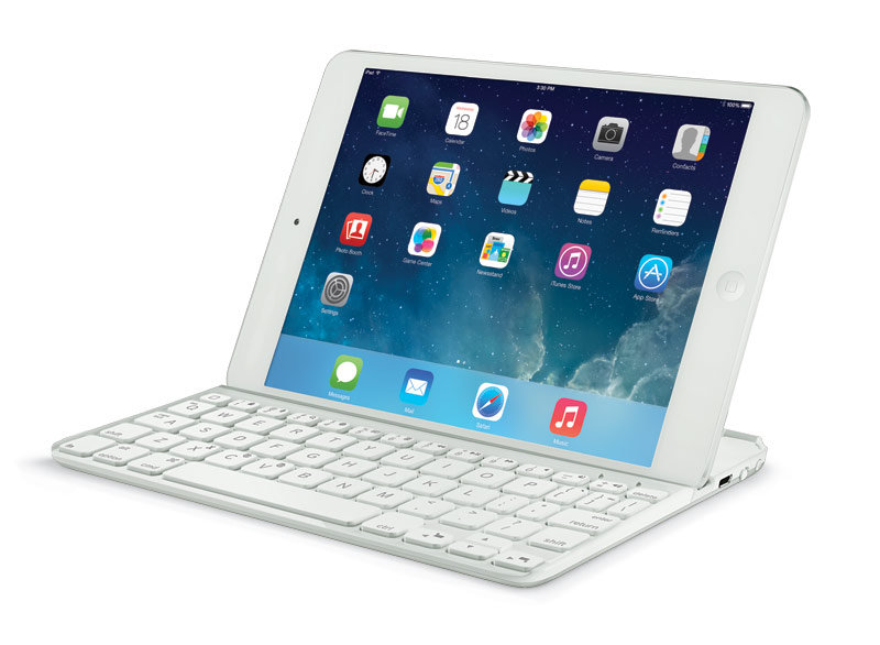 logitech wireless ultrathin keyboard folio case cover for ipad air white new ebay. Black Bedroom Furniture Sets. Home Design Ideas