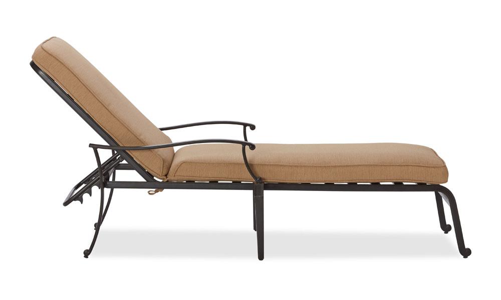 Sling Chaise Lounge Amazon: Amazon.com : Strathwood Whidbey Cast-Aluminum Chaise