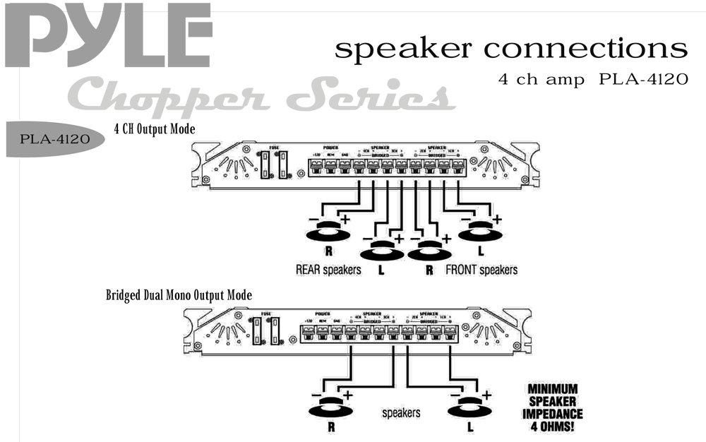Amazon Com   Pyle Pla4120 1000 Watts 4 Channel High Power