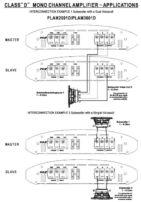 pyle amp wiring diagram pyle car audio plam3601d new class - d mono block sub ... pyle plcm7500 wiring diagram
