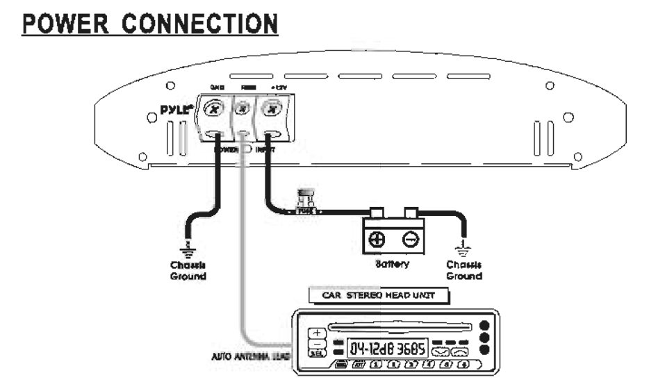 car amp wiring diagram amazon.com: pyle plam3601d class d monoblock power ... mono car amp wiring diagram