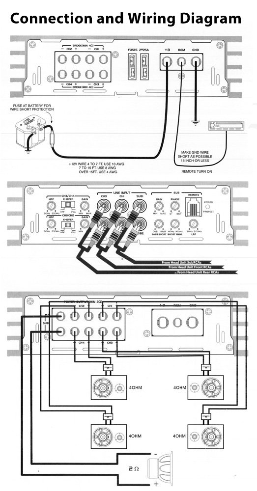 pyle amp wiring diagram pyle plcm10 wiring diagram amazon.com: pyle plba530frd blade 6,800-watt 5-channel ... #10