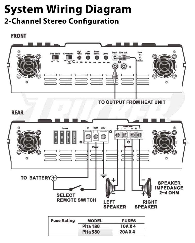 pyle plta180 2 channel 800 watt 24 volt truck. Black Bedroom Furniture Sets. Home Design Ideas