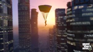 Parachute through the city