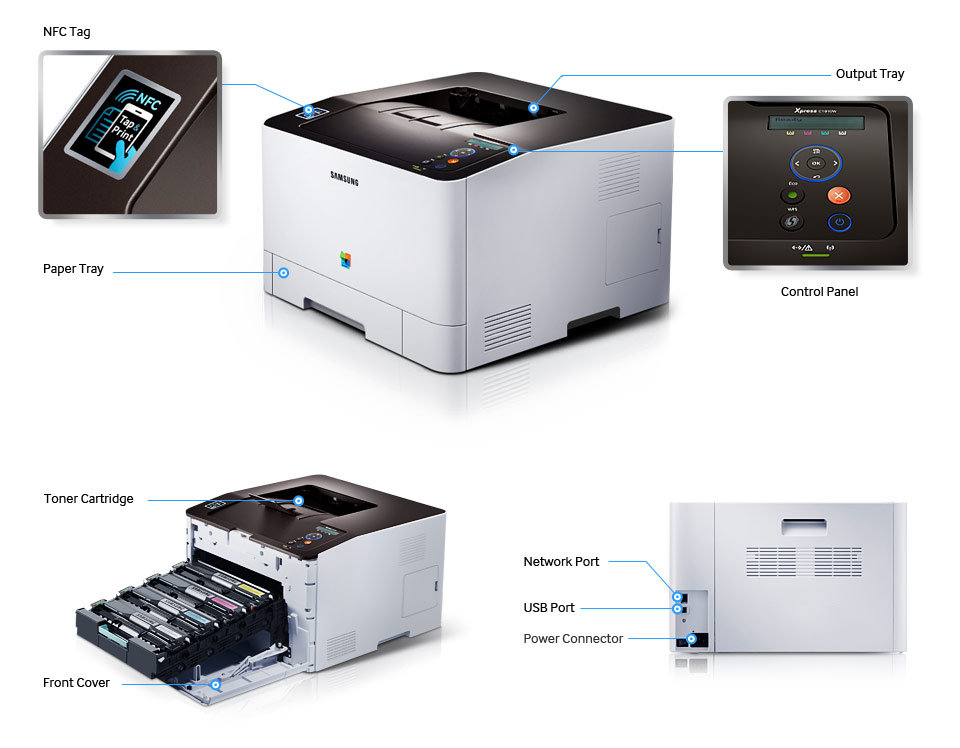 Amazon Com Samsung Sl C1810w Xaa Wireless Color Printer