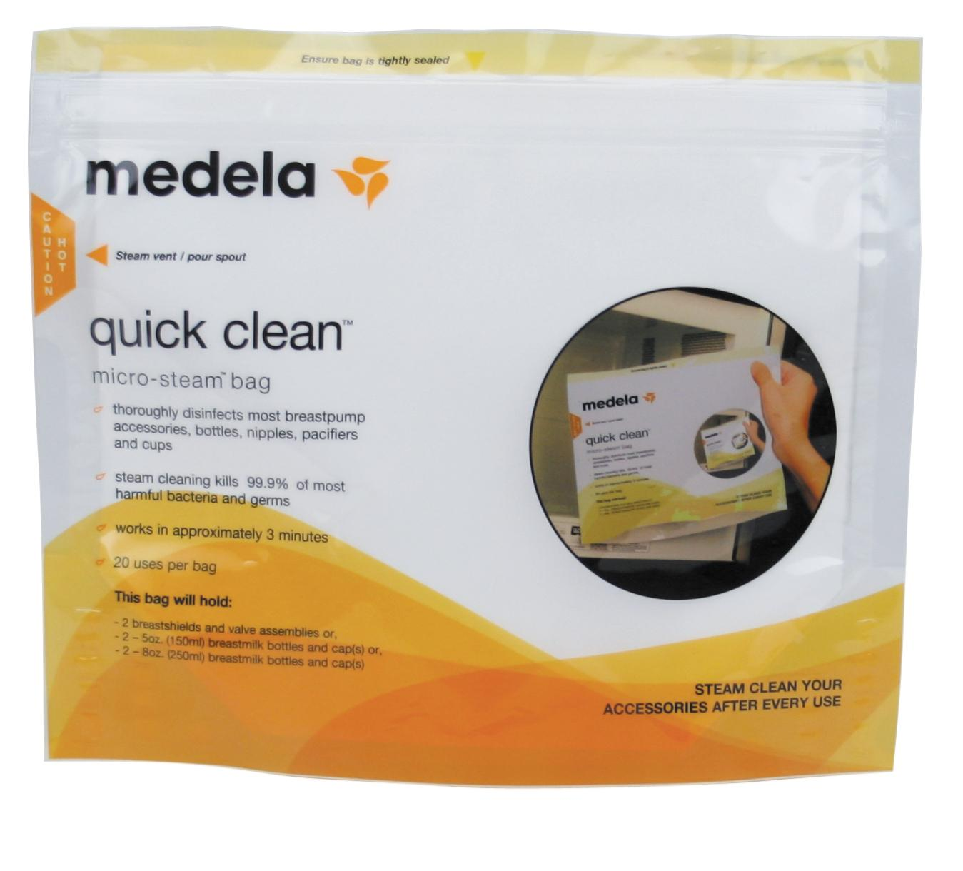 Amazon Com Medela Quick Clean Micro Steam Bags 5 Count