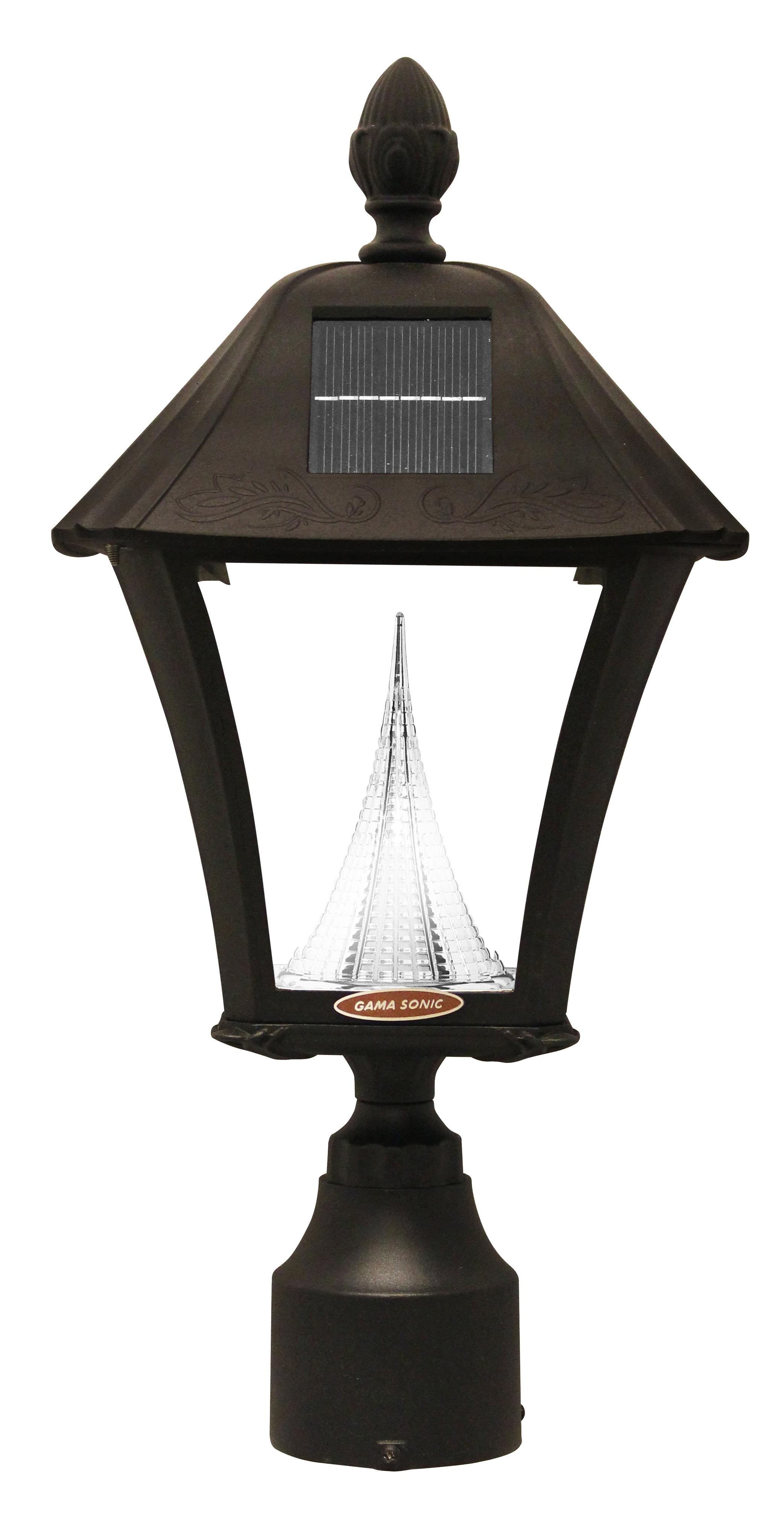 Gama Sonic Gs 106fpw Baytown Outdoor Solar Light In Black