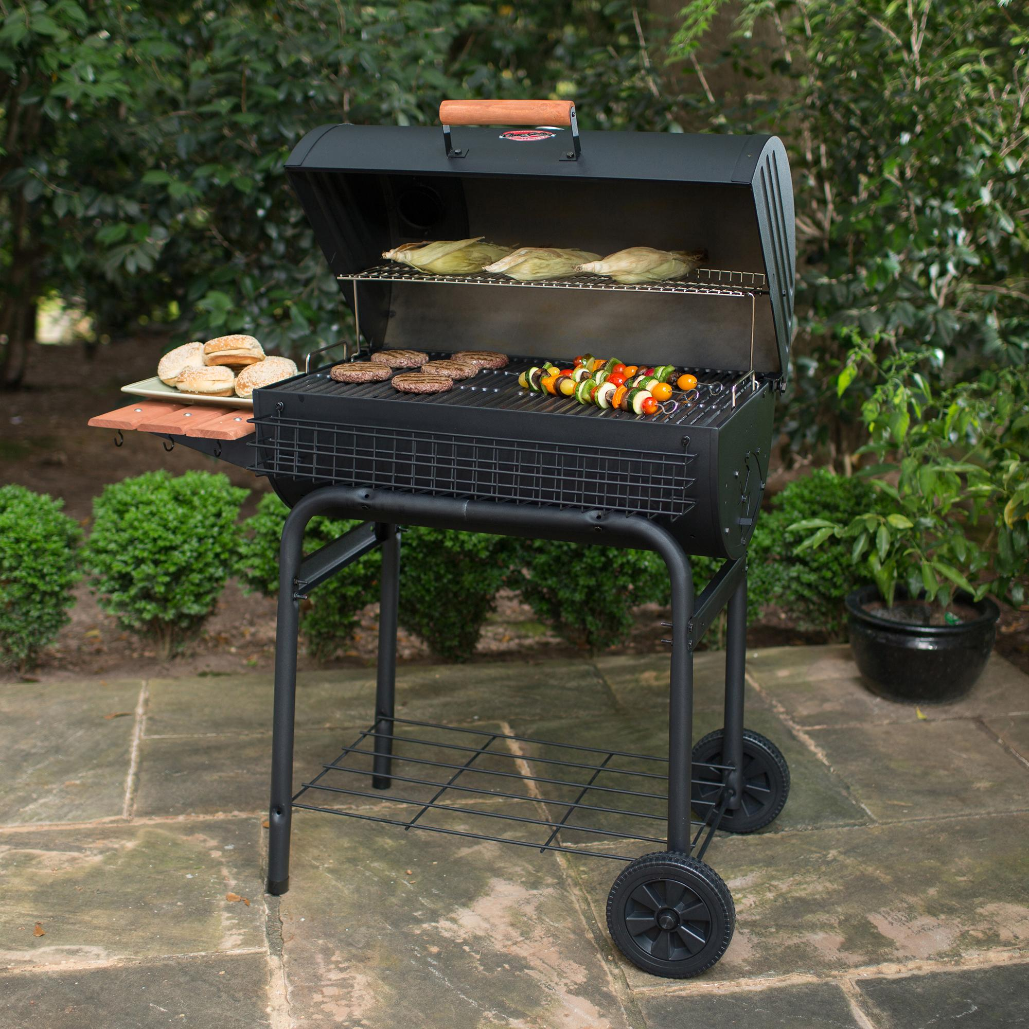 charcoal grill smoker barbecue weber bbq heavy duty steel outdoor patio backyard ebay. Black Bedroom Furniture Sets. Home Design Ideas