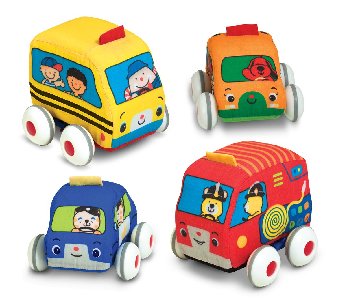 Amazon.com: Melissa & Doug K's Kids Pull-Back Vehicle Set