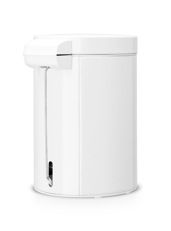 brabantia step trash can 0 7 gallon 3 liter white home kitchen. Black Bedroom Furniture Sets. Home Design Ideas