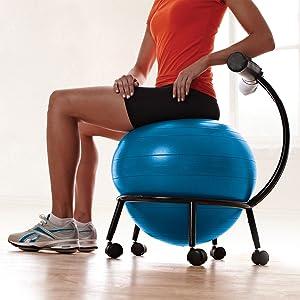 Amazon Com Gaiam Custom Fit Adjustable Balance Ball