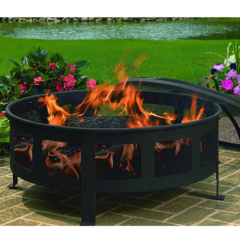 Backyard Patios With Fire Pits: Amazon.com : CobraCo Bravo Mesh Fire Pit : Patio, Lawn