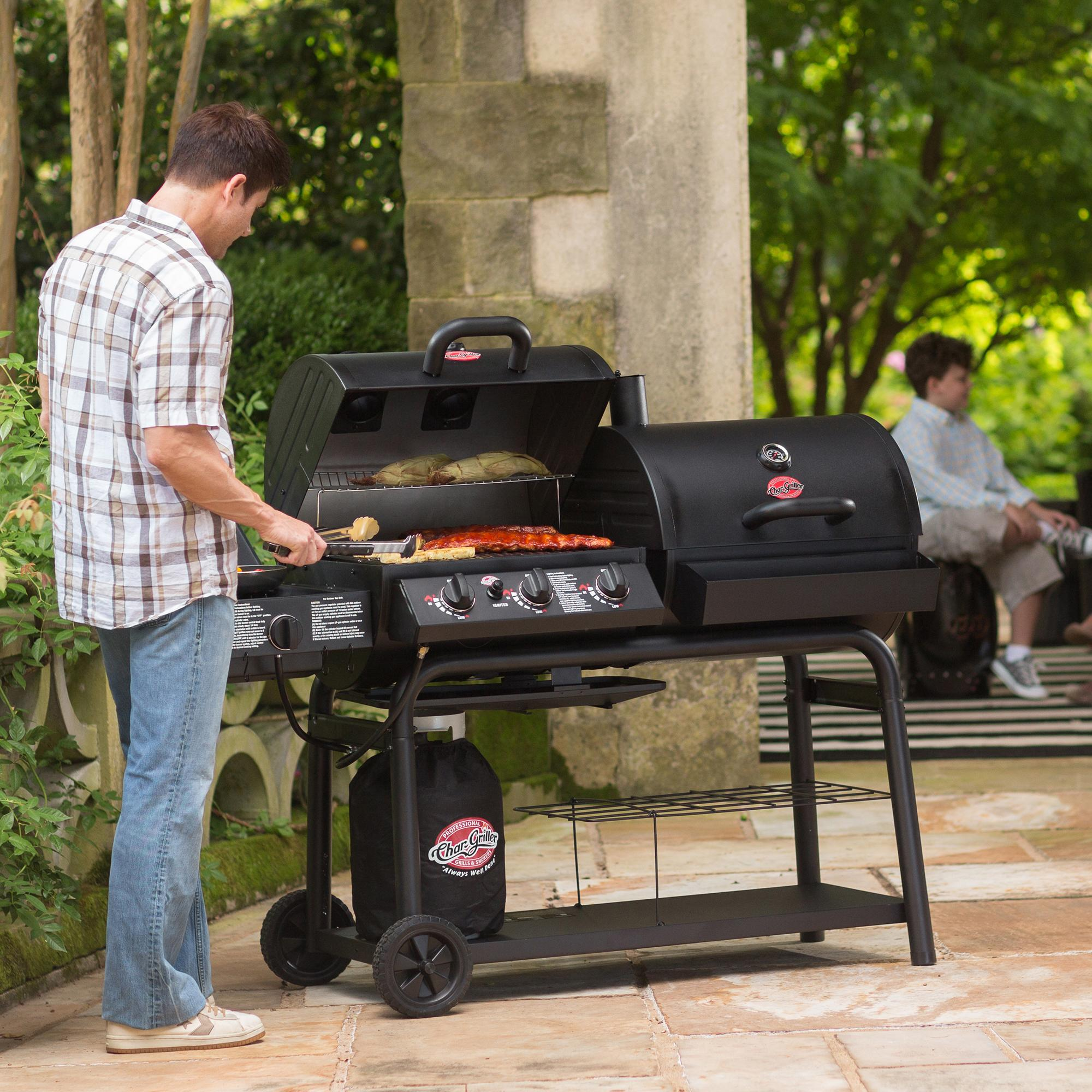 Amazon Com Char Griller 5050 Duo Gas And Charcoal Grill