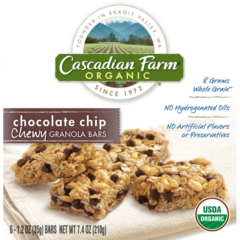 Cascadian Farm Organic Chewy Granola Bars, Chocolate Chip