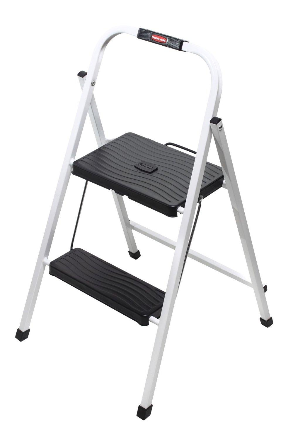 Rubbermaid Rm Hsp2 Folding 2 Step Lightweight Steel Step