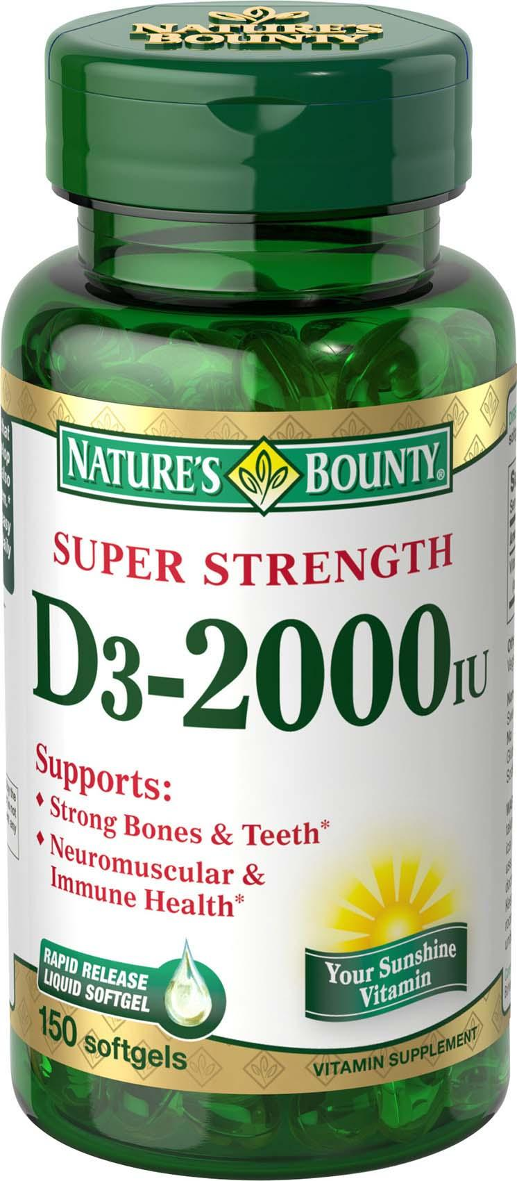 softgels bounty vitamin liquid nature d3 natures 2000 iu rapid release ingredients health amazon care personal quickly allow enter designed