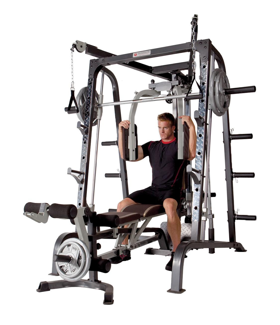 Marcy Deluxe Diamond Elite Smith Cage Workout Machine ... |Strength Equipment