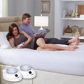 Amazon Com Electric Heated Warming Mattress Pad Dobby