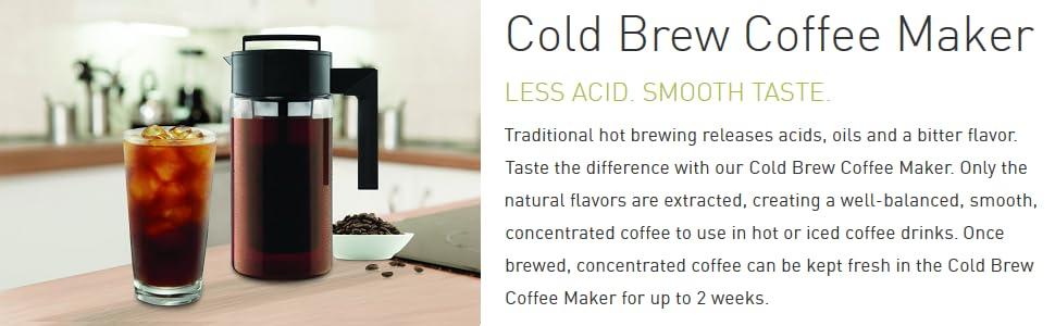 Amazon.com | Takeya Cold Brew Iced Coffee Maker, 1-Quart ...