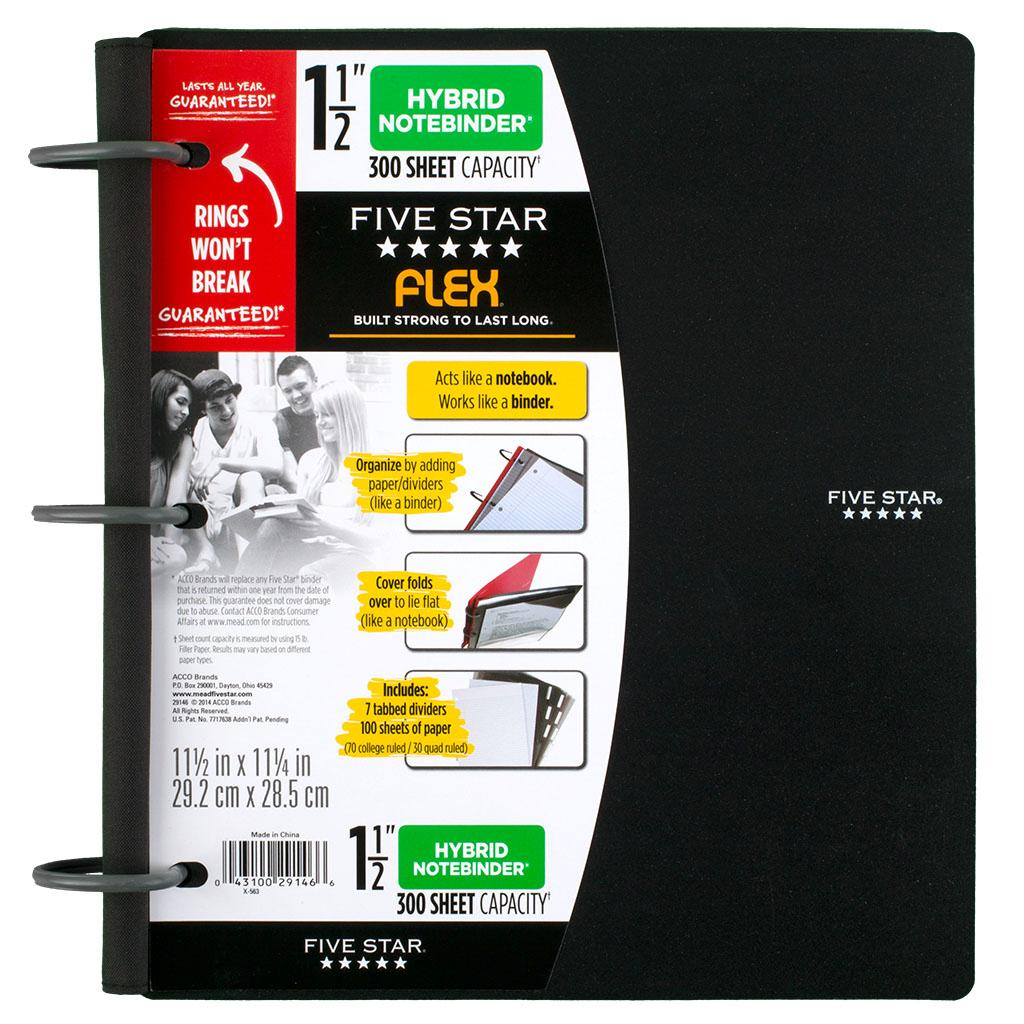 Amazon.com : Five Star Flex Hybrid NoteBinder, 1.5-Inch