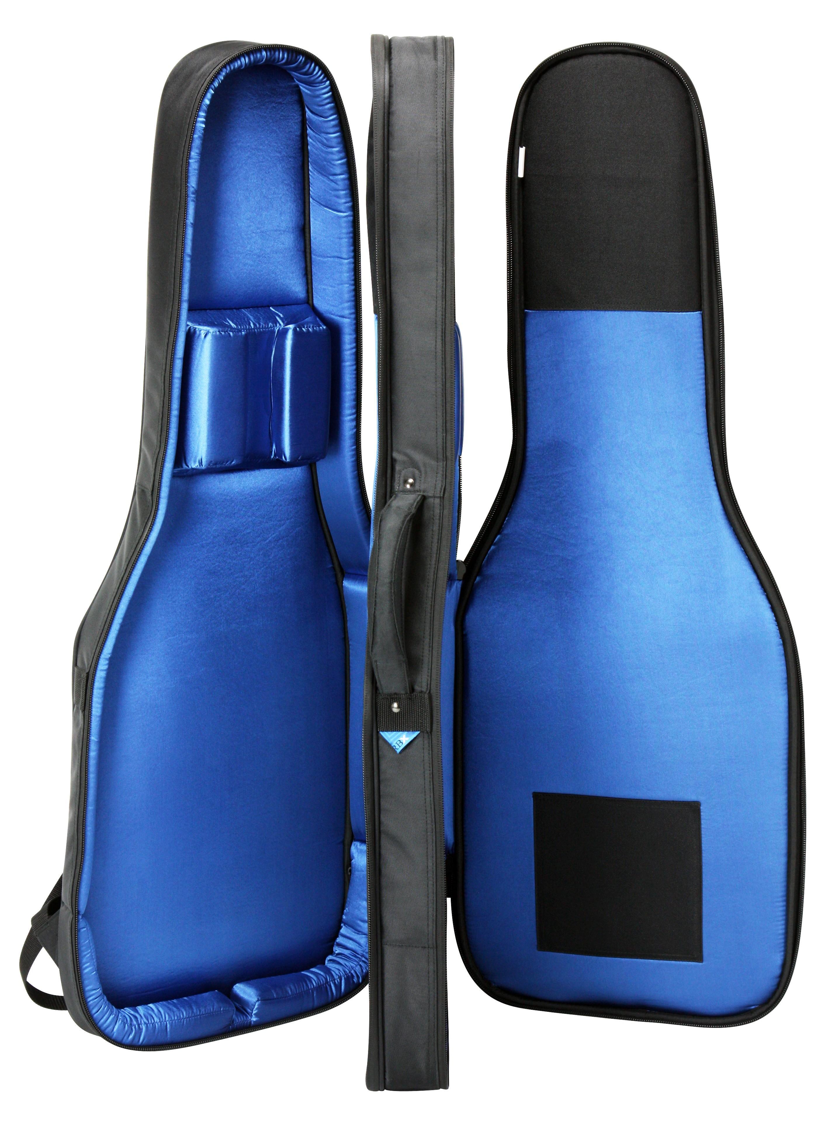 reunion blues rbx2e double electric guitar bag musical instruments