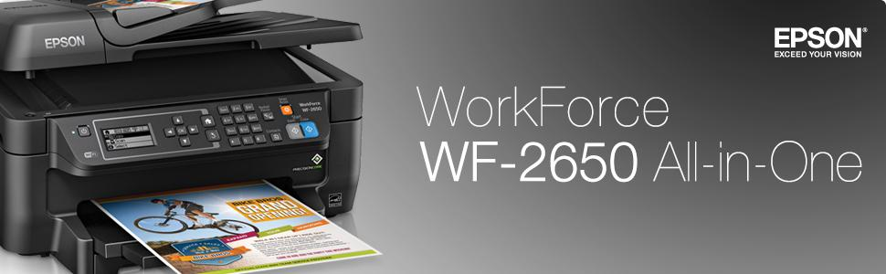 Epson Workforce Wf 2650 All In One Wireless Color Printer