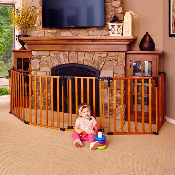 Amazon Com North States Superyard 3 In 1 Wood Gate