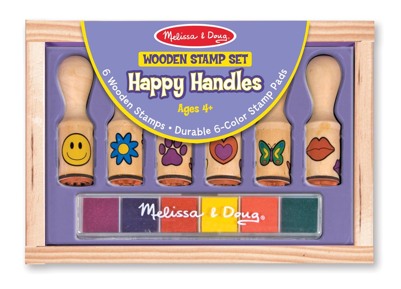 Amazon Com Melissa Amp Doug Deluxe Wooden Happy Handle