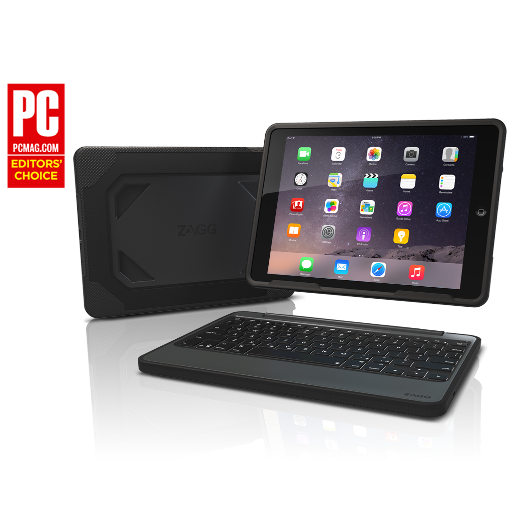 Zagg Rugged Book Ipad Air 2 Keyboard And Folio Case