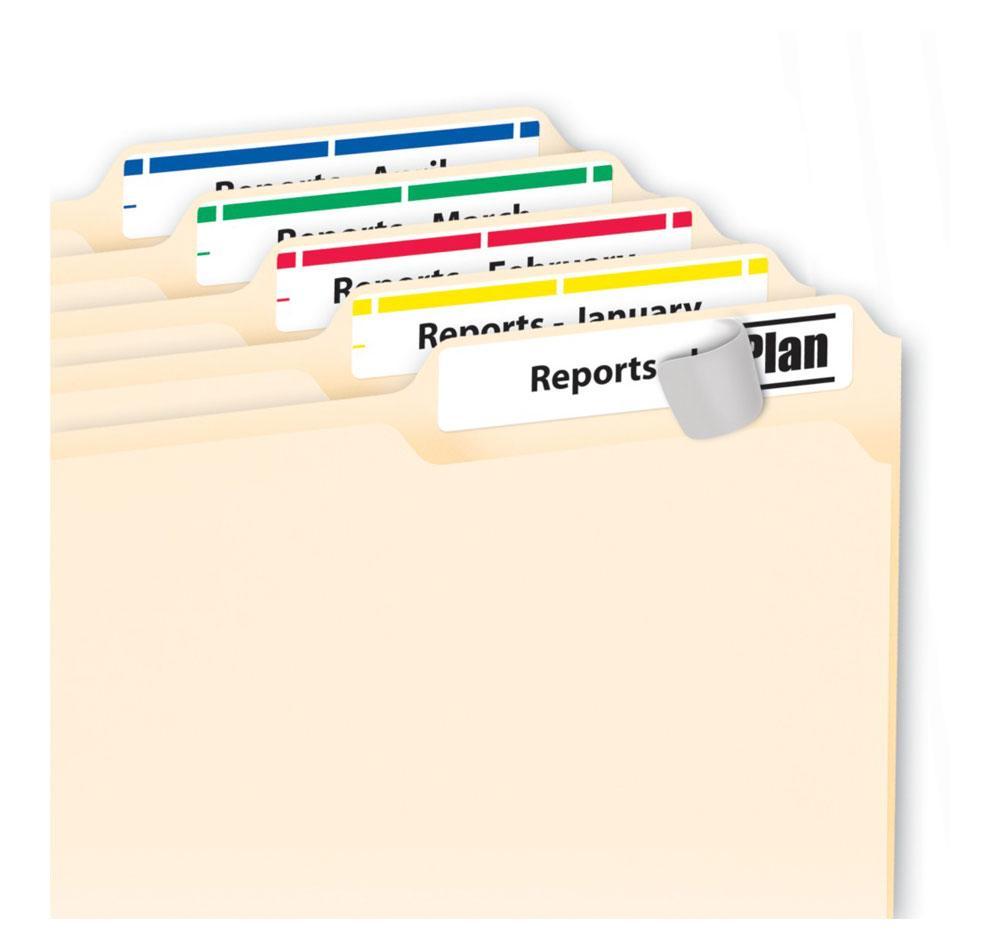 hanging folder tab template - avery self adhesive printable hanging file
