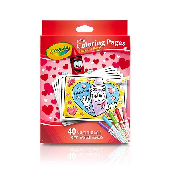 Amazon.com: Crayola Valentine's Day Mini Coloring Pages ...