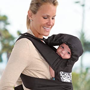 Amazon Com Infantino Sash Mei Tai Carrier Black Gray