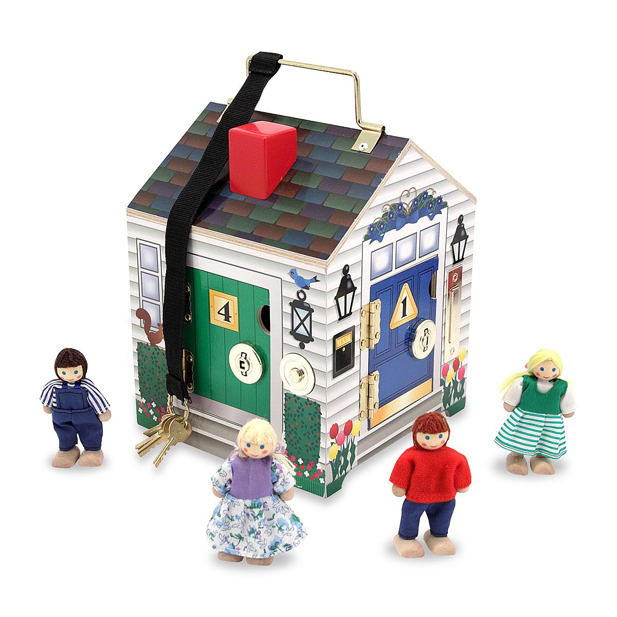 Dollhouse, travel, take along toy, play house
