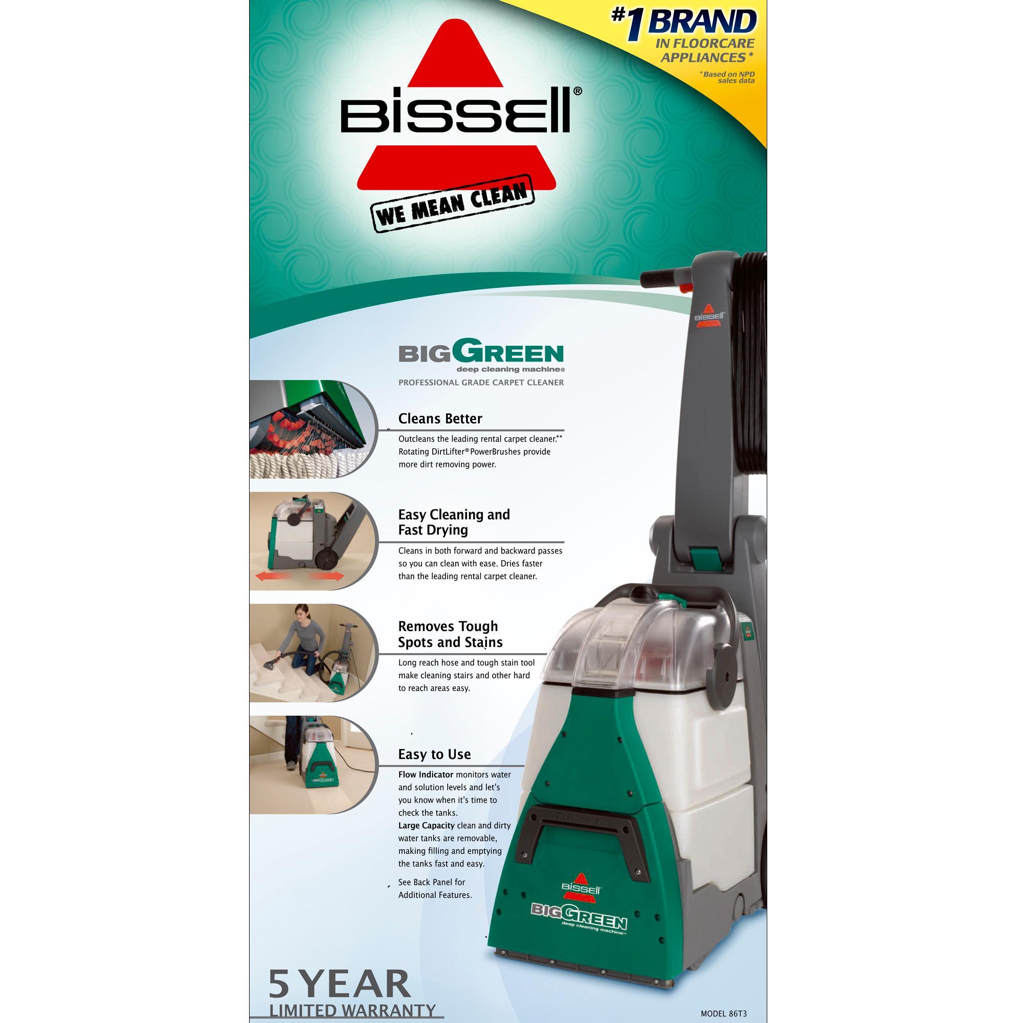 Amazon Com Bissell 86t3 86t3q Big Green Deep Cleaning Professional Grade Carpet