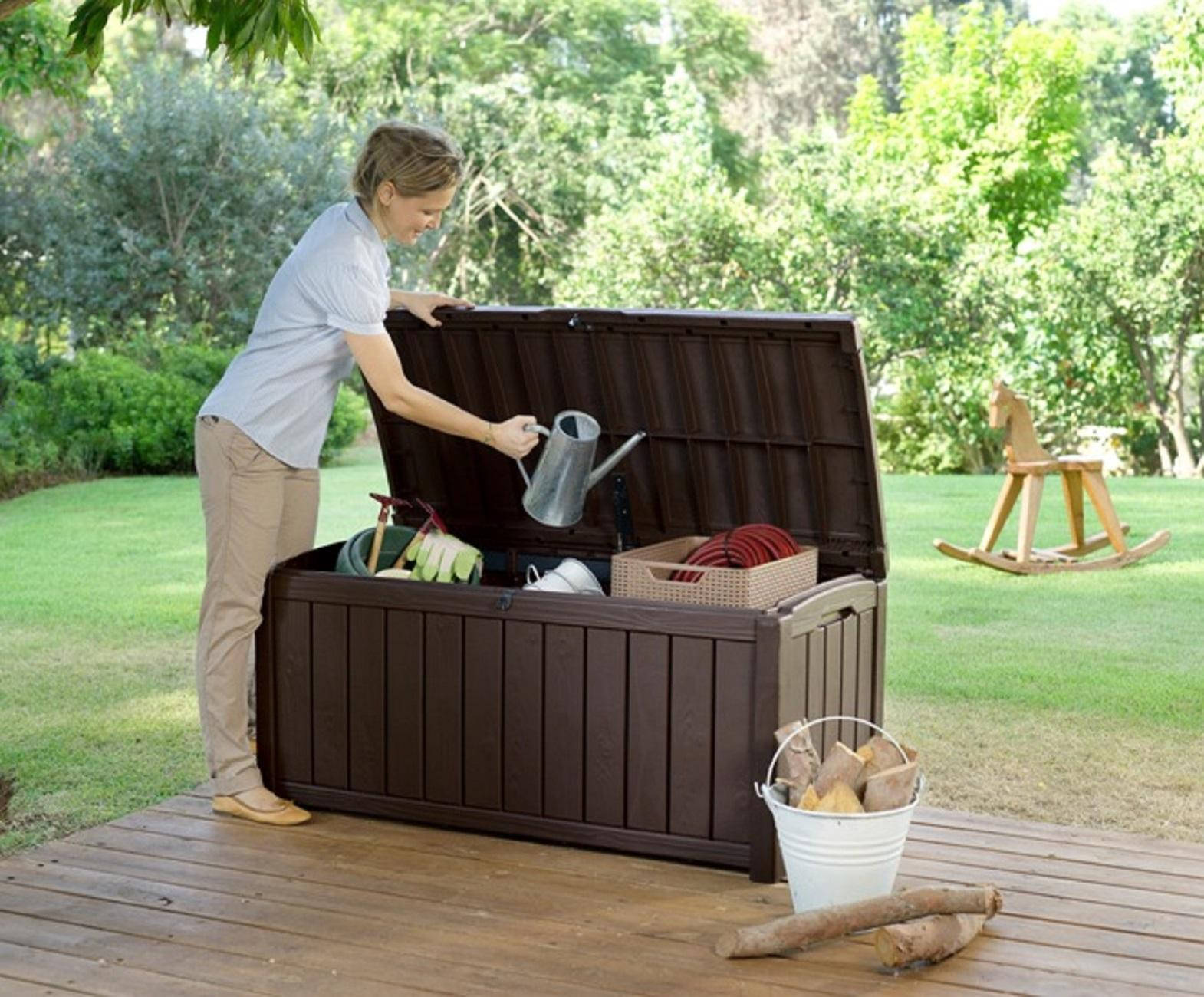 Amazon Com Keter Glenwood Plastic Deck Storage Container