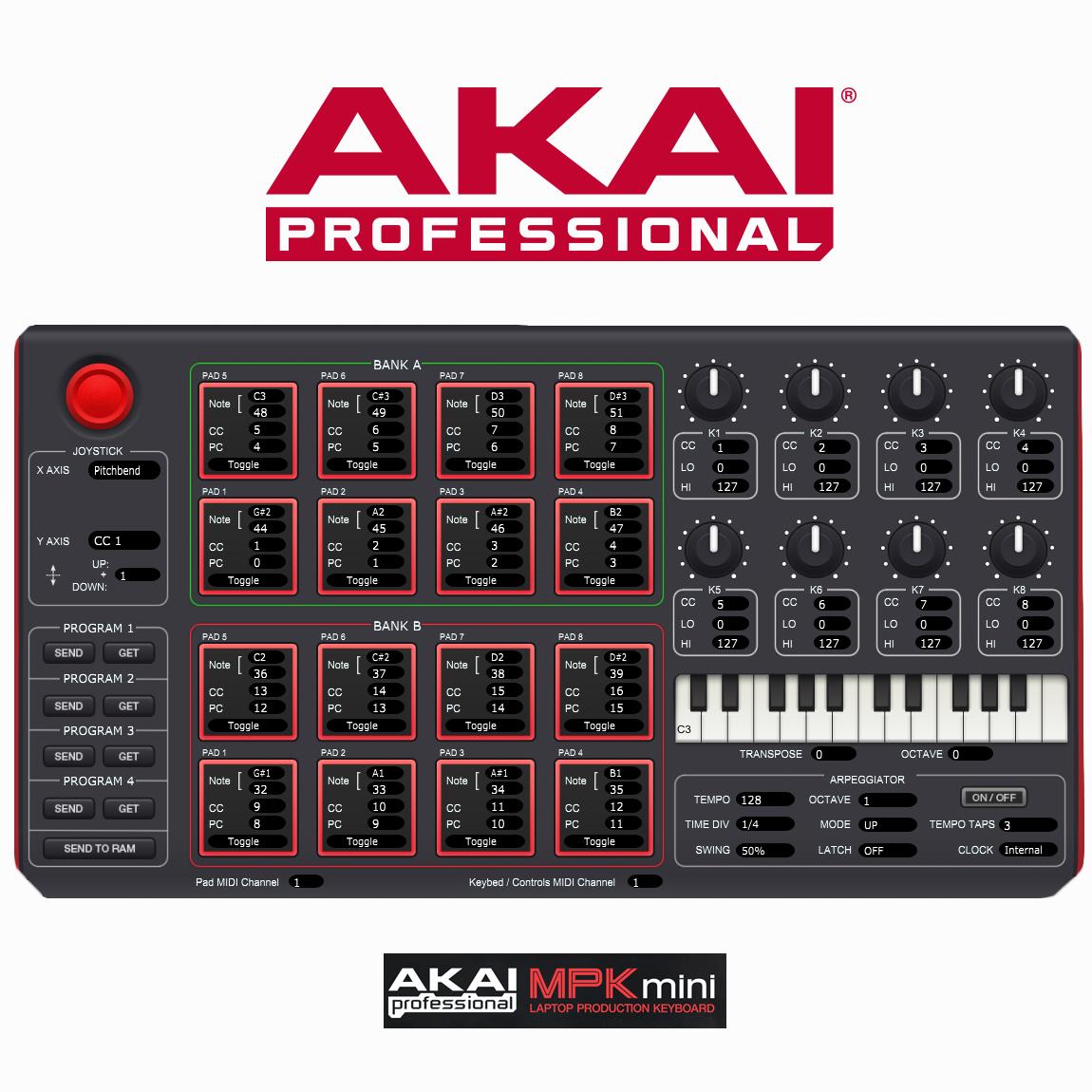 akai professional mpk mini mkii 25 key ultra portable usb midi drum pad and keyboard. Black Bedroom Furniture Sets. Home Design Ideas