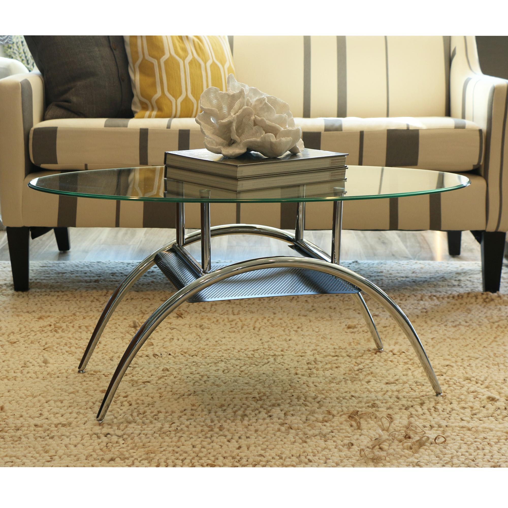 Black Glass Coffee Table Amazon: Glass Oval Coffee Table