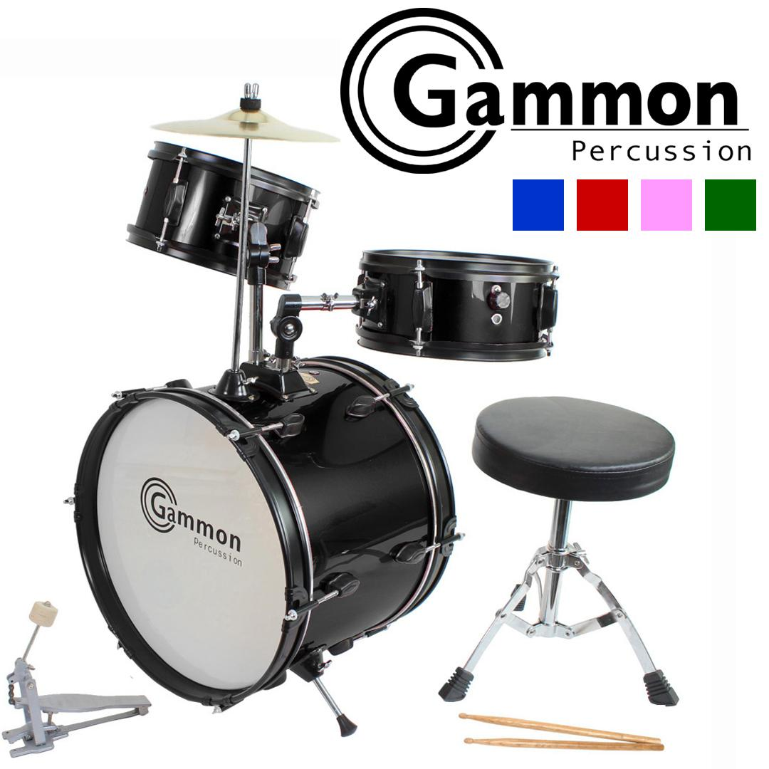 blue drum set complete junior kid 39 s children 39 s size with cymbal stool sticks. Black Bedroom Furniture Sets. Home Design Ideas
