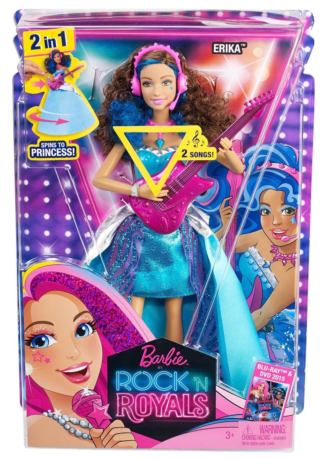 Amazon.com: Barbie in Rock 'N Royals Singing Erika Doll