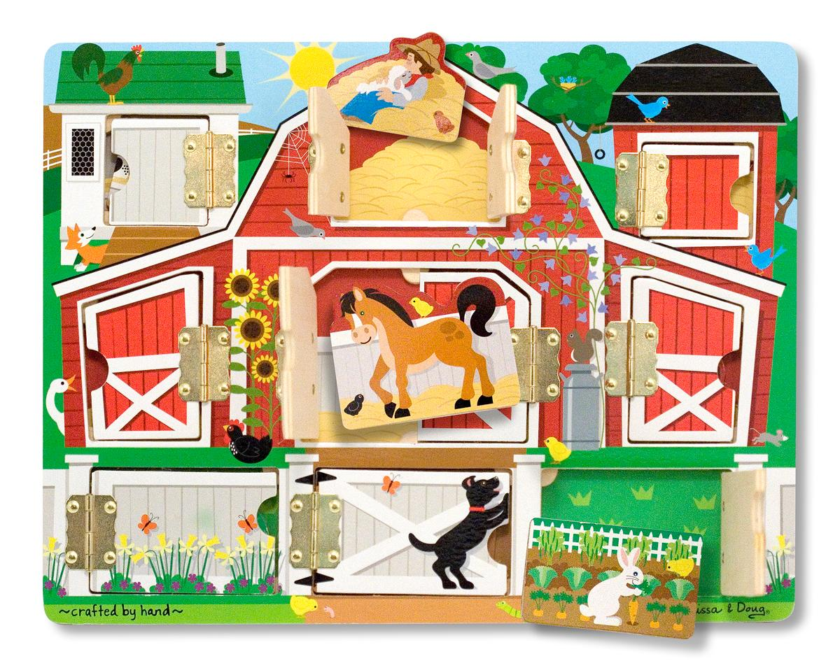 Amazon Com Melissa Amp Doug Magnetic Farm Hide And Seek