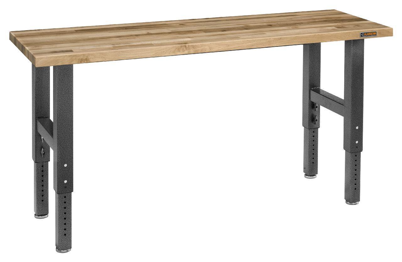 Gladiator Workbench: Gladiator GAWB06MTZG 6-Feet Adjustable Height Maple Work