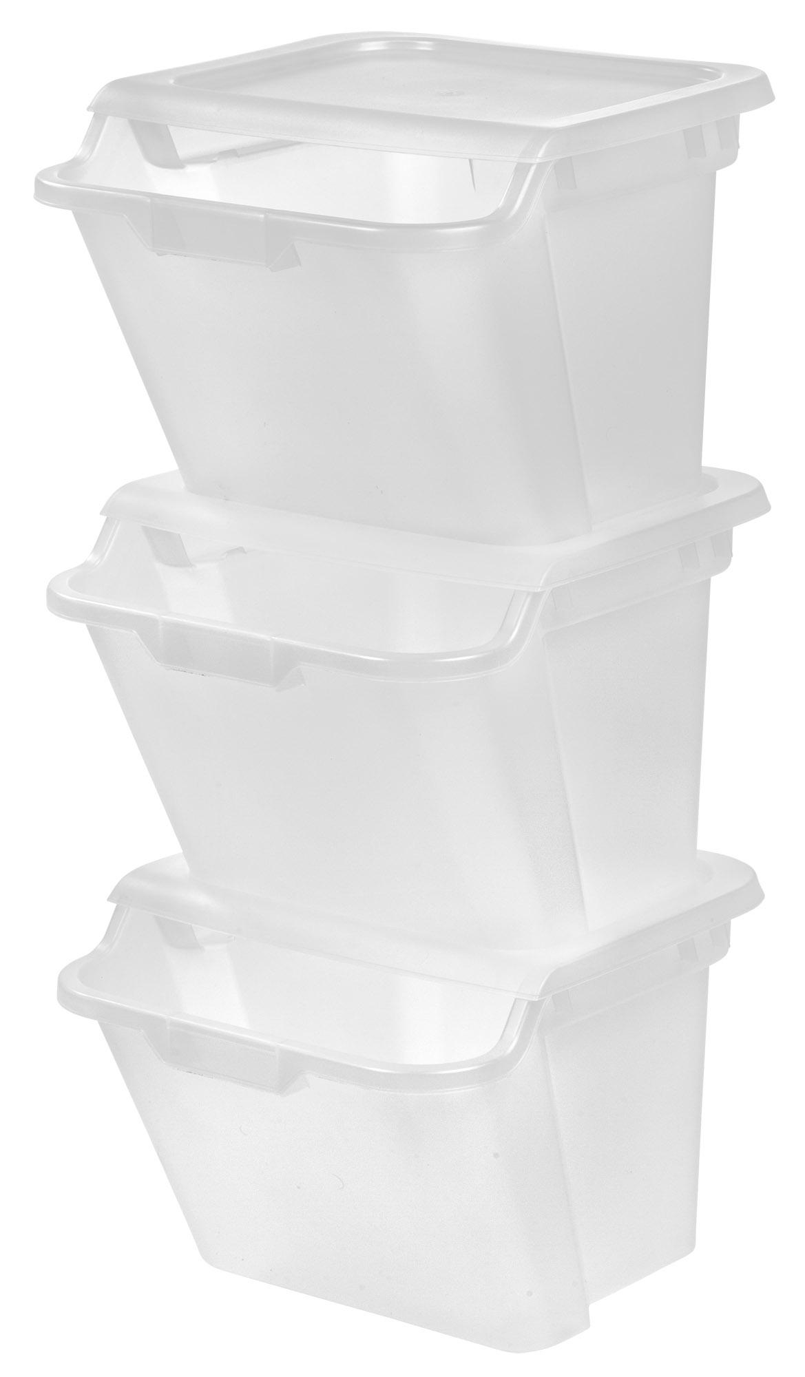 Amazon.com: IRIS Stackable Storage Bins, 6-Piece: Home ...