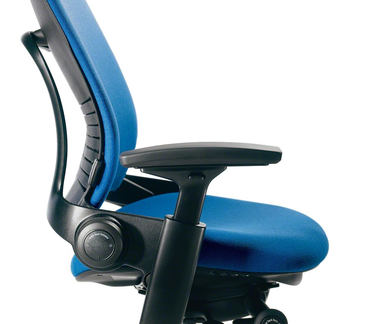 Amazon Com Steelcase Leap Chair Blue Fabric Kitchen