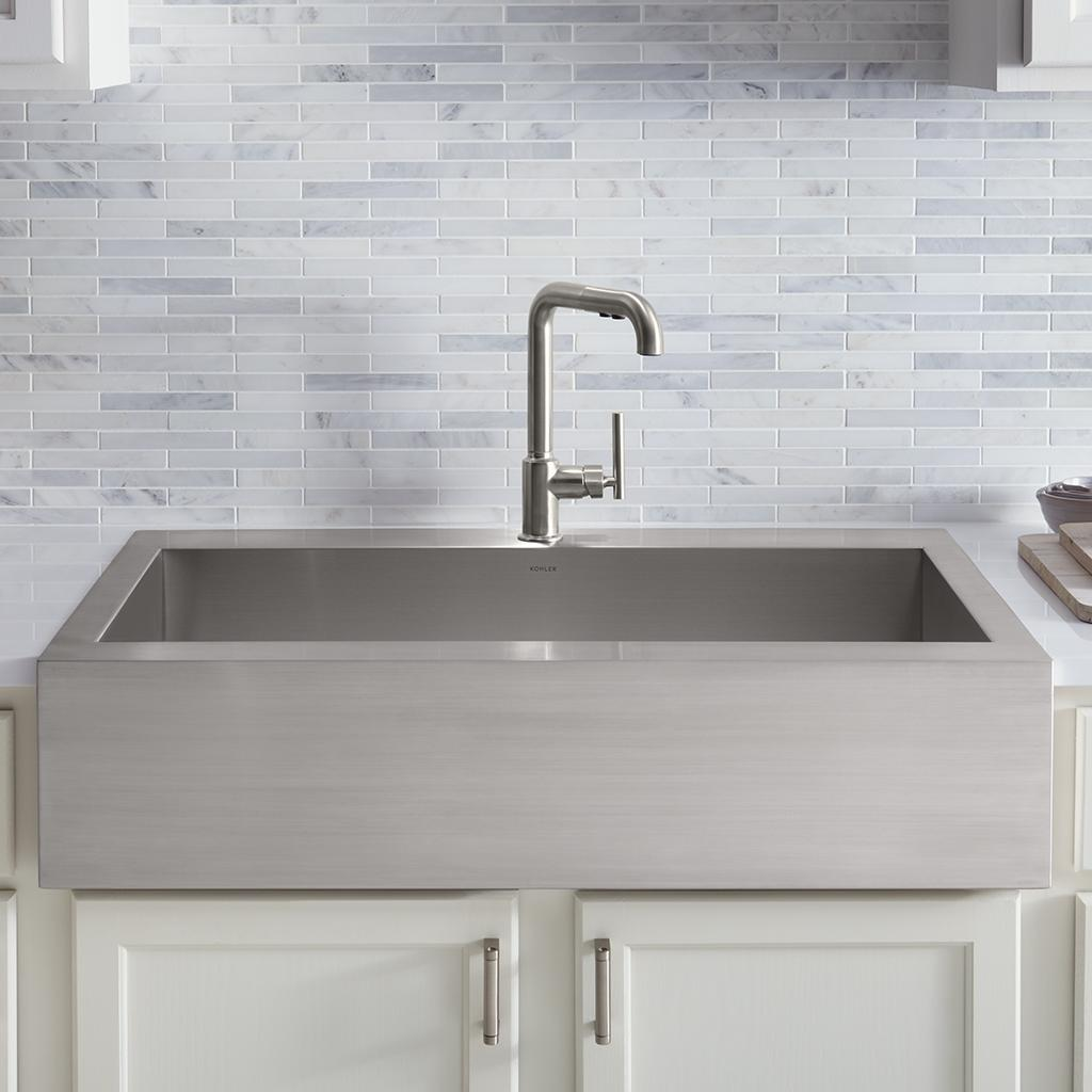 Kohler Vault  Gauge Drop In Stainless Steel Kitchen Sink