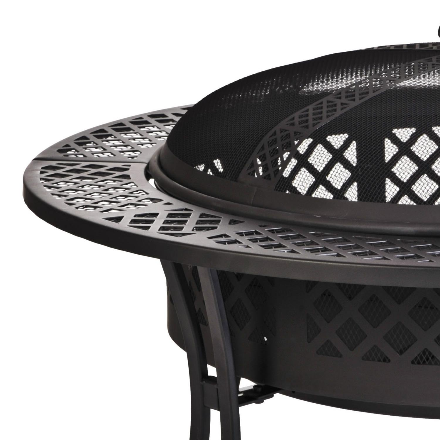 Amazon Com Cobraco Diamond Mesh Fire Pit With Screen And